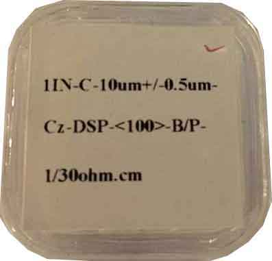 10 micron thin silicon substrate