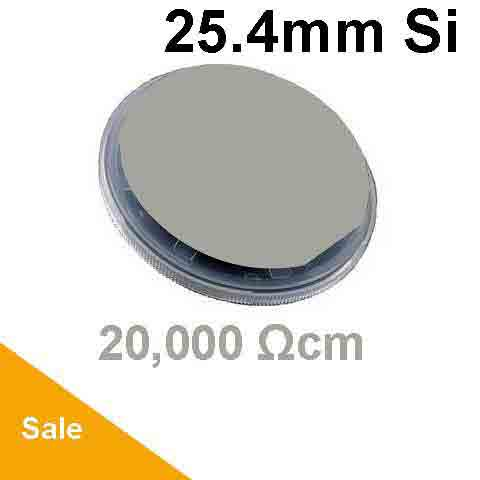 25.4mm Silicon Wafer Undoped