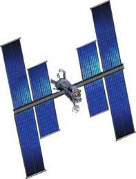 gaas solar panels in space