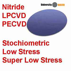 Stoichiometric Silicon Nitride LPCVD Wafers